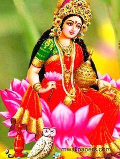Goddess Lakshmi is closely linked to a goddess worshipped in Bali, i. Dewi Sri, as the goddess of fertility and agriculture Shiva Hindu, Krishna Art, Hindu Art, Durga Maa, Hare Krishna, Lakshmi Photos, Lakshmi Images, Diwali Pooja, Hanuman Images