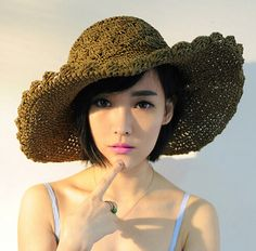 UV protection wide brim straw hat for women summer wear | Buy cool cap,fashion hats on buyhathats.com