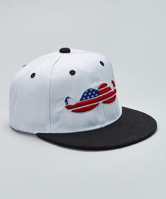 8457888652f Look at this Gometiing LLC White Flag Mustache Baseball Cap on today!