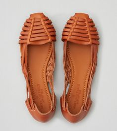 Tan AEO Huarache Ballet Flat