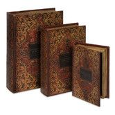 Found it at Wayfair - IMAX 3 Piece Jarrow Book Box Collection Set in Red/Gold