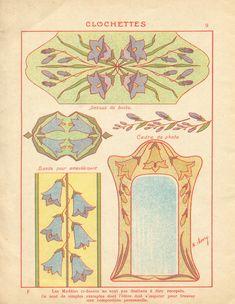 Art Nouveau Illustration, Art Nouveau Flowers, Art Nouveau Pattern, Textile Pattern Design, Traditional Japanese Tattoos, Abstract Canvas Art, Lowbrow Art, Botanical Drawings, Vintage Artwork