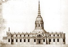The Warrant Design St Paul's Cathedral. The 'Warrant' design was probably draughted in the winter of 1674-75. I