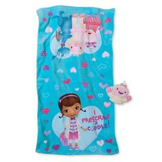 Disney Doc McStuffins Cuddle Bath Towel/Wash Mitt Set - Tropical Teal