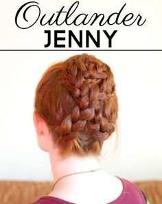 Braided hair tutorial for Jenny Murray in Outlander!