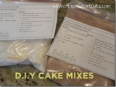 DIY chocolate & yellow cake mixes