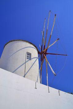 Oia Windmill, Santorini, Greece