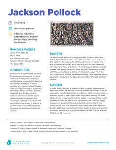 Resources - The Art of Education University Art History Lessons, Art Lessons For Kids, Music Lessons, Art Education Resources, Health Education, Physical Education, Middle School Art, Art School, Jackson Pollock Art