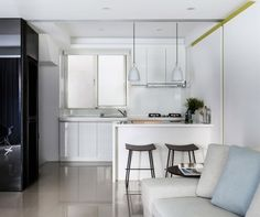 decoracion cocinas americanas apartamentos pequeno Z AXIS DESIGN ideas