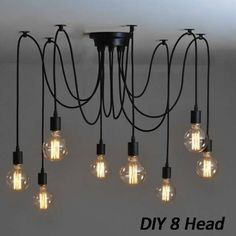 8 Head Industrial Vintage Edison Chandelier Pendant Ceiling Lamp Fixture  Worldwide delivery. Original best quality product for 70% of it's real price. Buying this product is extra profitable, because we have good production source. 1 day products dispatch from warehouse. Fast &...