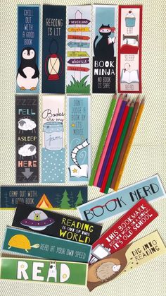 Free Printable Bookmarks - 15 Bookmarks From WeAreTeachers Discover free & Bargain Books daily at Bookmarks Quotes, Paper Bookmarks, Watercolor Bookmarks, Bookmarks Kids, Crochet Bookmarks, Reading Bookmarks, Corner Bookmarks, Free Printable Bookmarks, Bookmark Template
