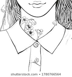 Young Beautiful Girl Flowers Zentangle Style Stock Vector (Royalty Free) 1780766564 Zentangle, Black And White Doodle, Doodle Coloring, Zen Art, Coloring Book Pages, Young And Beautiful, Image Now, Art Ideas, Royalty Free Stock Photos