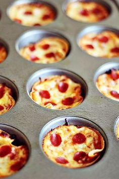Mini Deep Dish Pizzas | Dashing Dish