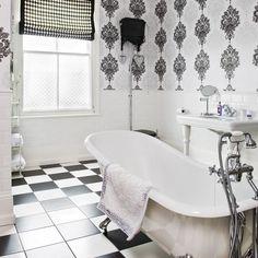 Art Deco-style monochrome bathroom | Art Deco decorating - 10 ideas | housetohome.co.uk