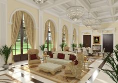 Classic Living Room | vray render by AHMED TAHA - COMET GROUP