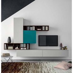Sectional Storage Wall SLIM 101 By Dallu0027Agnese Design Imago Design, Massimo  Rosa. Find This Pin And More On T.V Wall Decor ...