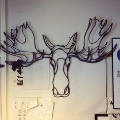 www.tes-ted.com - Moose Head Trophy - Wall Art Wooden Sign - My tribute to this beautiful Beast - Capsule collection for Hu2 Design