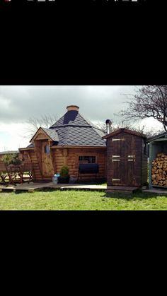 Sauna house Sauna House, Sauna Ideas, Grid, Woods, Cabin, House Styles, Home Decor, Decoration Home, Room Decor