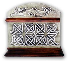 CELTIC CHEST 1 - SIDE.    Embossed (repousse) chest with Celtic motives; animals and ornamentation.  30 x 22 x 20 cm.    See Complete Here: [link]