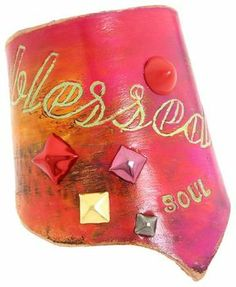 shopstyle.com: Zappos Leather Couture by Jessica Galindo - Classic Freeform Cuff--Blessed Soul (Pink/Orange) - Jewelry