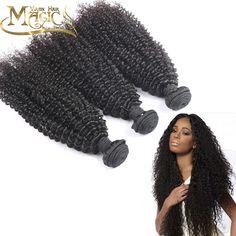 7Ahuman Hair Brazilian virgin hair kinky curly 3pcs Brazilian kinky curly virgin hair weave bundles natural colour free shipping