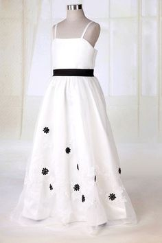 Straps Appliques Summer Sashes Natural Waist Tulle Overlay Flower Girl Dress $79.99