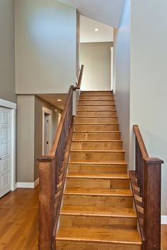 Alair Homes | Nanaimo | Seven Oaks | Renovation Stairs, Homes, Home Decor, Banisters, Stairway, Houses, Decoration Home, Room Decor, Staircases