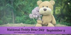 NATIONAL TEDDY BEAR DAY – September 9