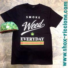 SMOKE WEED EVERYDAY tee...solo da noi!!! venite a trovarci allo SHOX urban clothing di viale dante 251 Riccione APERTI tutti i giorni anche la DOMENICA POMERIGGIO !per info e vendita contattateci su FB: @ SHOX URBAN CLOTHING ,spedizione €5-->free for order over €50!!! #smoke #weed  #everyday #life #2015 #SHOX  #comevuoitu #sartoriainterna #fashion #like #fresh #streetwear #life #esclusivo #nuoviarrivi  #swag  #solodanoi  #unici #men #woman #instafashion #summer #girl #boys #picsoftheday…