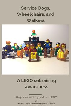 We need your help to support and vote for our LEGO set. If our LEGO set gets 10,000 votes, we get a chance of getting this made into a real set. We are trying to raise awareness and support service dogs at the same time! Thanks for sharing and pinning!