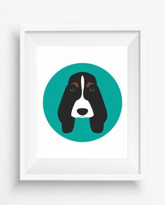 Basset Hound head,Basset Print,Cute Dog Print,Puppy,Puppy watercolor,Pet Decor,digital Prints,instant Download,home decor,
