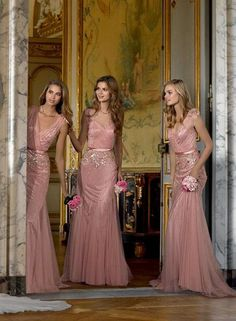 Dusty rose bridesmaid dresses / http://www.deerpearlflowers.com/28-dusty-rose-wedding-color-ideas/2/