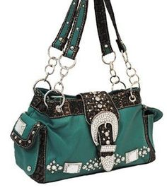 Turquoise Western Buckle Purse!!