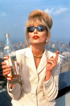 Actress Joanna Lumley is set to auction off a selection of clothing from her personal wardrobe, some of which she wore to play Bolly-swigging Patsy Stone in 'Absolutely Fabulous'. Joanna Lumley, Absolutely Fabulous Quotes, Absolutely Fabulous Birthday, Les Deux Magots, Patsy Stone, Mood, Portrait, London Fashion, Get The Look