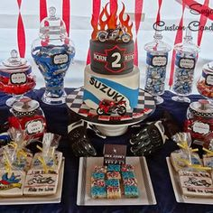 When you think of elaborate dessert tables, you don't necessarily think of helmets, flames, and tattoos. But this motorcycle theme birthday party goes to show that you can have a fabulous party in any theme that's meaningful to you and your family! It was styled ...