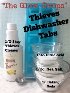 Cleaning With Essential Oils Dishwasher Tabs: D. with essential oils – ounces of prevention Is T Essential Oils Cleaning, Essential Oil Uses, Thieves Essential Oil, Homemade Cleaning Products, Natural Cleaning Products, Natural Products, Beauty Products, Young Living Oils, Young Living Essential Oils