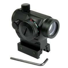 Tactical Reflex Red Green Dot Sight Scope w/ Dual High / Low Profile Rail Mounts Airsoft Hunting riflescope