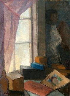 "huariqueje: "" At the Window - Alvar Cawén 1918 Finnish , Oil on canvas, 70 x 50 cm. Artist Painting, Painting & Drawing, Looking Out The Window, Open Window, Window Art, Art Archive, Art Themes, Modern Artists, Eye Art"