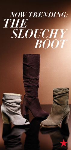 Despite what Mom's always taught, a little slouch is definitely a good thing. Slip into one of the season's hottest styles now: the Slouchy Boot.