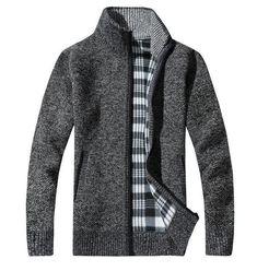 RUELK 2018 Men's Sweaters Autumn Winter Warm Cashmere Wool Zipper Pullover Sweaters Man Casual Knitwear Plus Size M-XXXL-. hello friends, me. Wool Cardigan, Cotton Sweater, Sweater Jacket, Wool Sweaters, Pullover Sweaters, Men Sweater, Male Cardigan, Men's Cardigans, Moda Masculina