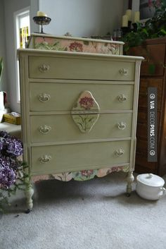 Fantastic - Swoon.  Versailles Chalk Paint Dress with Decoupage.  Double Swoon…