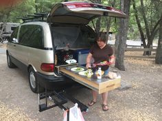 Camping Tips For Families Minivan Camper Conversion, Suv Camper, Mini Camper, Micro Campers, Conversion Van, Toyota Previa, Camping Box, Minivan Camping, Truck Camping