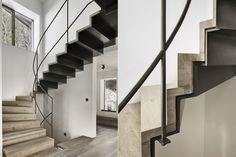 Stair Detail - Gogl Architekten / Haus S. Stair Elevator, Stair Detail, Stair Handrail, Steel Metal, Architecture Details, Minimalism, Condo, Stairs, House