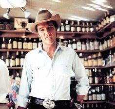 "Elvis in Sedona, Arizona during the filming of ""Stay Away Joe"""