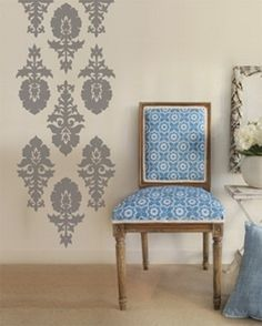 Damask Wall Decals U2013 Amazingly Jazz Up Wall Décor: Damask Wall Decals  Stickers ~ Virtualhomedesign Part 97
