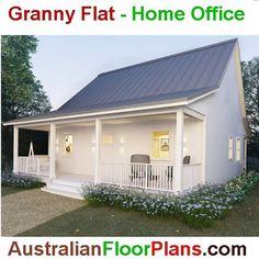 82 m2  2 bed cottege   modern cottege by AustralianHousePlans