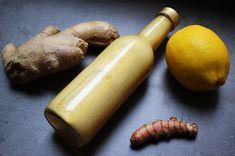 ginger-shot-erkaeltungskiller-vegan-roh-glutenfrei-zuckerfrei-2 Smoothie Drinks, Detox Drinks, Smoothies, How To Stay Healthy, Healthy Life, Detox Recipes, Healthy Recipes, Roh Vegan, Food Club