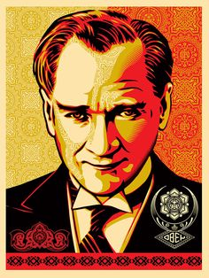 Street artist extraordinaire Shepard Fairey has issued a response to the ongoing protests in Turkey. The graphic designer released a portrait of the former Turkish leader, Mustafa Kemal Ataturk, on his OBEY Giant website, expressing his sup. Shepard Fairey Art, Institute Of Contemporary Art, Graffiti Tagging, Design Art, Graphic Design, Illustration Girl, Street Artists, Portrait Art, Portraits
