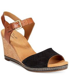 Clarks Collection Women's Helio Jet Wedge Sandals - Sandals - Shoes - Macy's