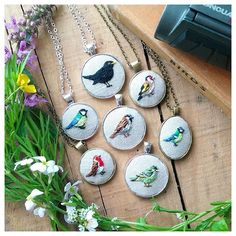 The birds were a lot of fun to make. Think I'll make a few more, do you have any favourite birds you'd like to see embroidered?  #embroideredbirds #embroidery #handembroidery #birds #birdwatching #ornithology #gardenbirds #crafts #linen #sparrow #goldfinch #robin #bluetit #blackbird #sewing #maker #linen
